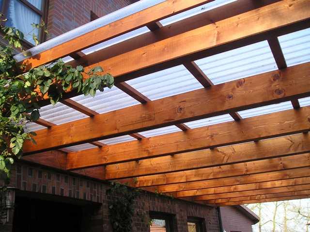 Terrasse Aus Masseranduba · Terrassendach, Dachüberstand, Überdachte  Terrasse, Dach Mit Acryl Platte ...